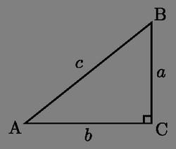 Прямокутний трикутник та його гіпотенуза