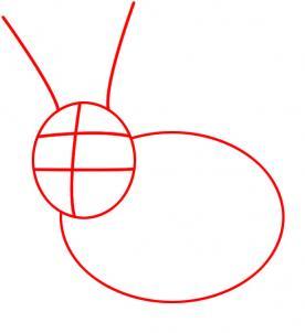 Як намалювати зайчика крок-1
