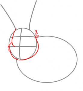Як намалювати зайчика крок-2