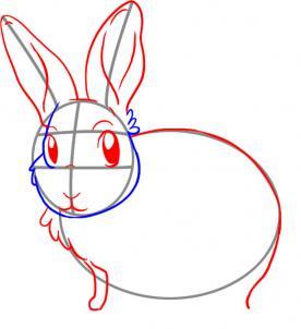 Як намалювати зайчика поетапно крок-3