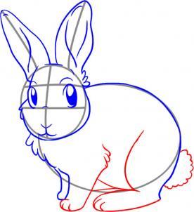 Як намалювати зайчика олівцем крок-4
