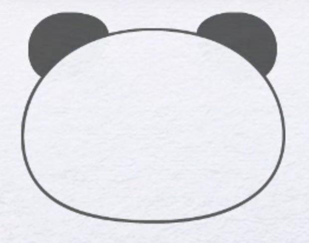 Як намалювати панду крок 1