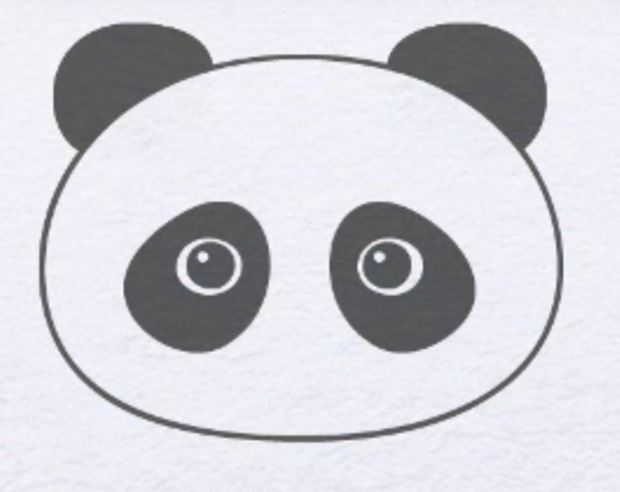 Як намалювати панду олівцем крок 2