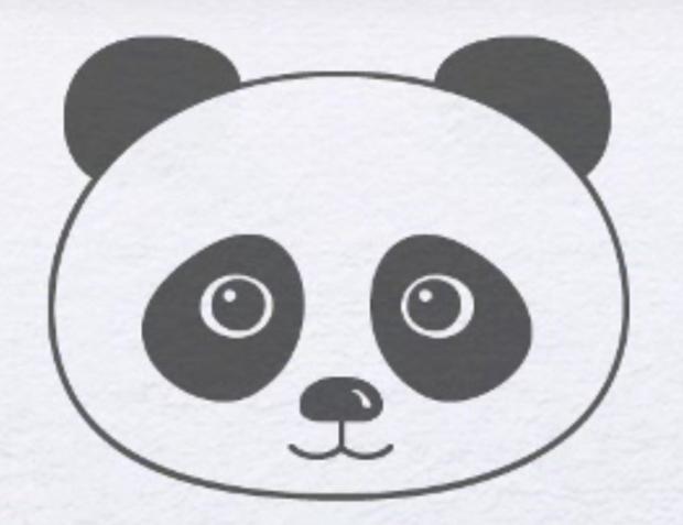 Як намалювати панду дитині