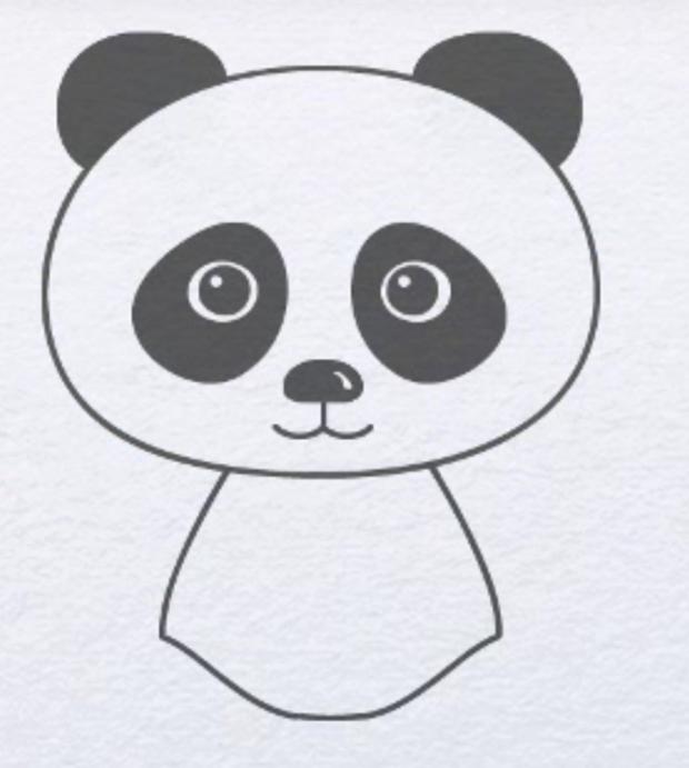Як намалювати гарну панду