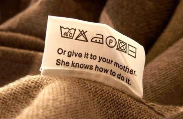 Позначки для прання на одязі